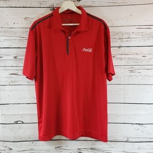 Coca-Cola Dry Fit Red Polo